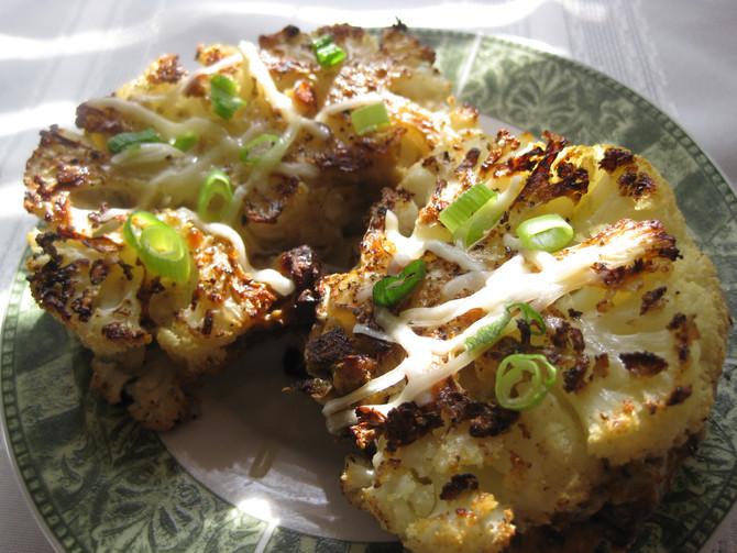 Nut-Stuffed Delicata Squash or Cauliflower