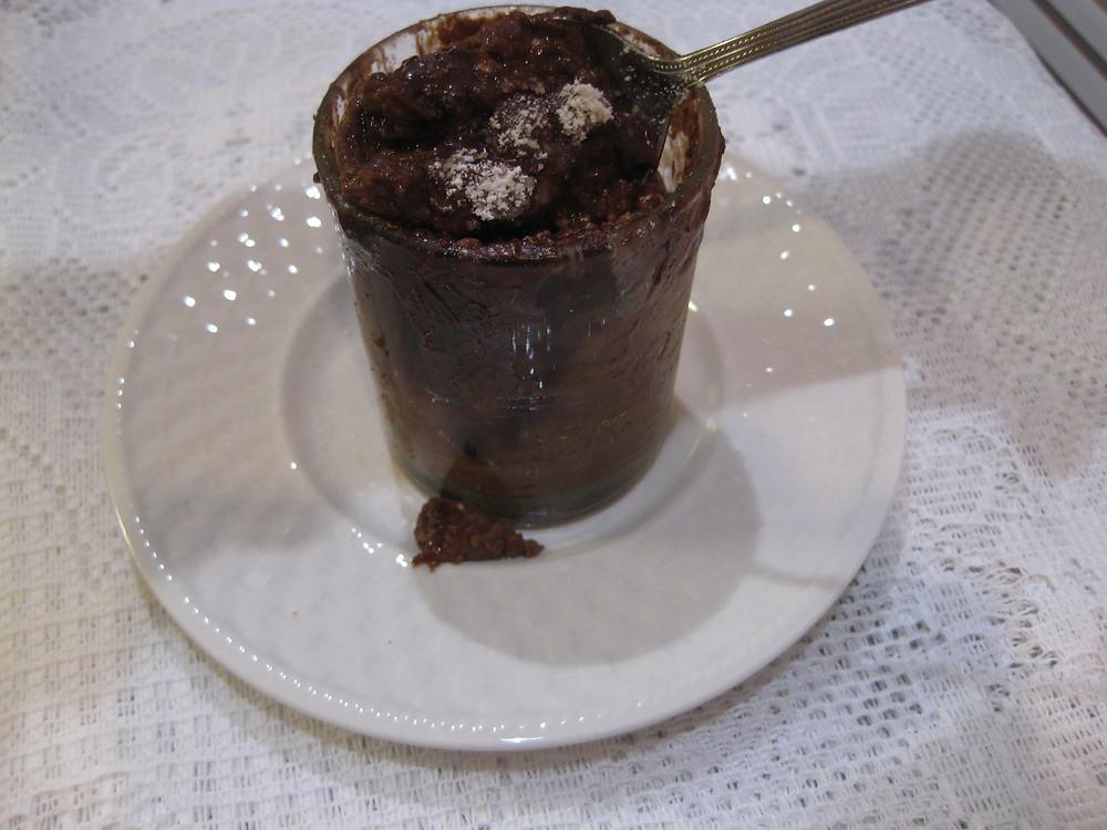Microwave Chocolate Custard-Souffle