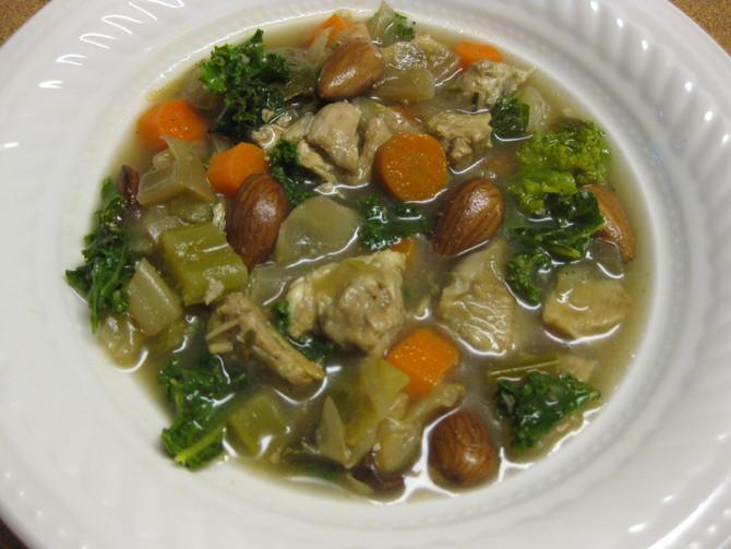 "Slow Cooker Chicken ""Bean"" Soup"