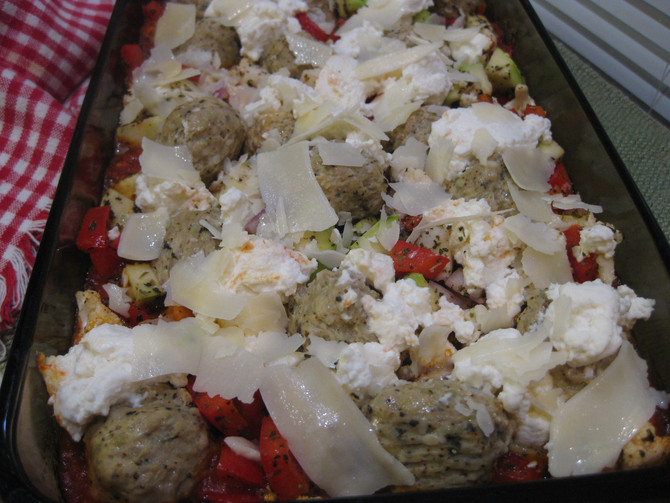 Low Carb Meatballs and Vegetables