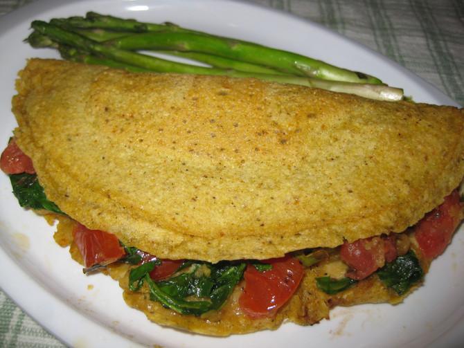 Eggless Omelet (soy free, vegan)