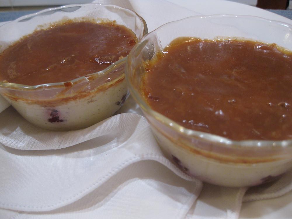 Coconut Blackberry Crème Brûlée