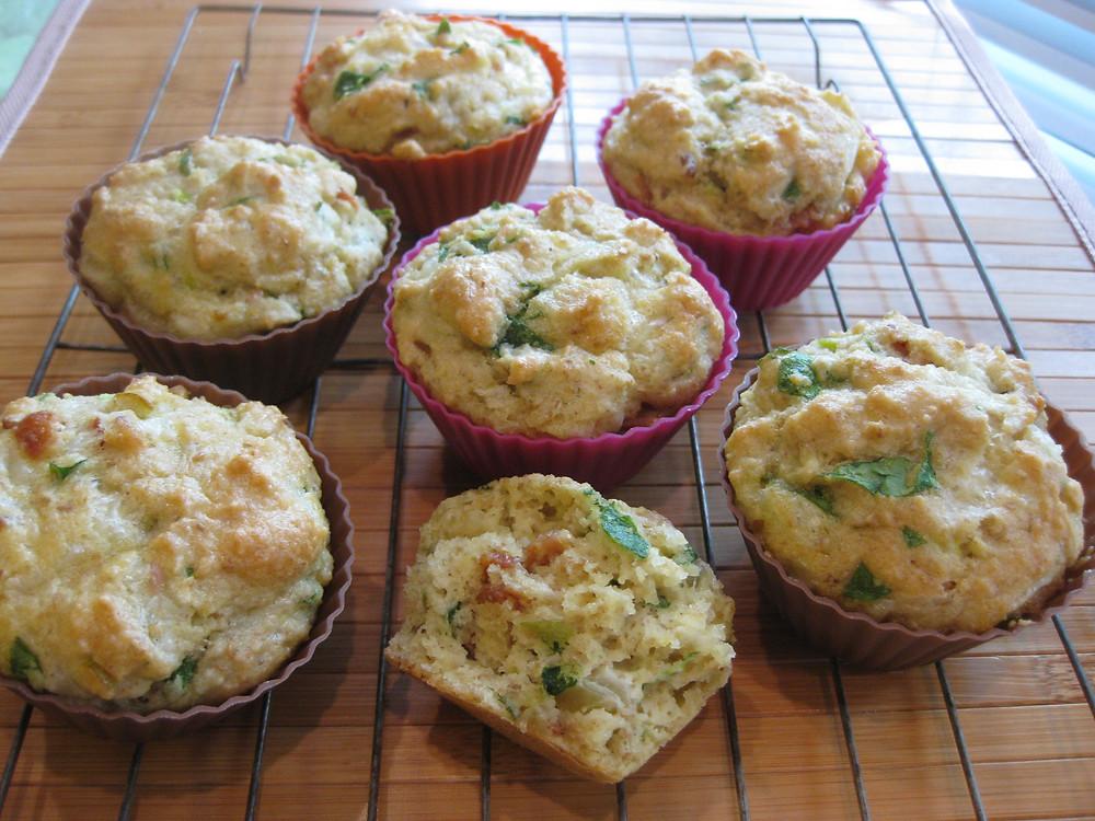 Cheddar Spinach Bacon Muffins