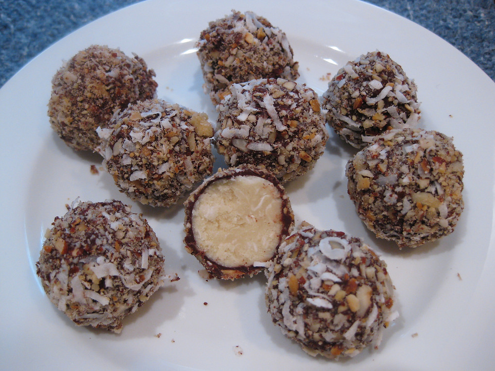 No-Bake Almond Joy Cheesecake Truffles (Keto)