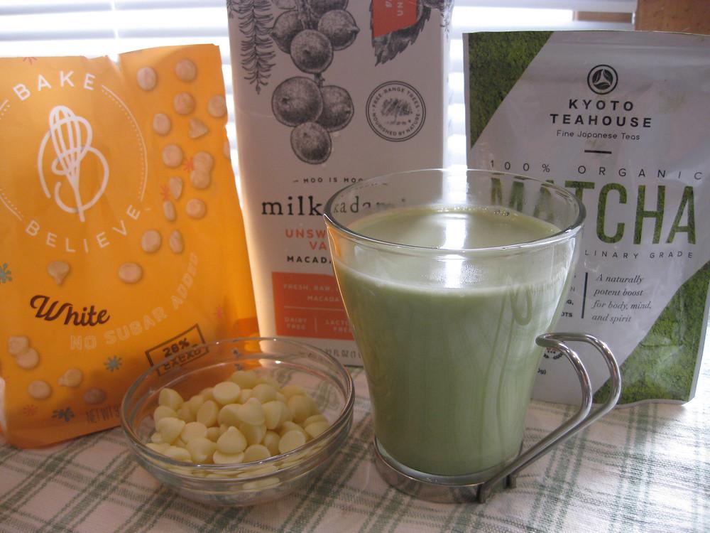 Macadamia-Coconut White Chocolate Latte (low carb, sugar free, keto)