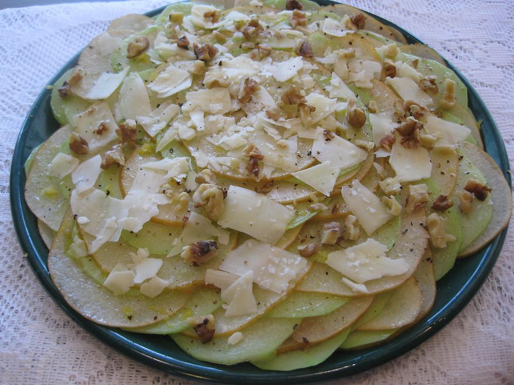 Asian Pear and Chayote Carpaccio Salad