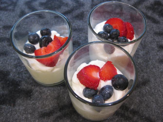 5 Minute Orange Ricotta Cream with Berries