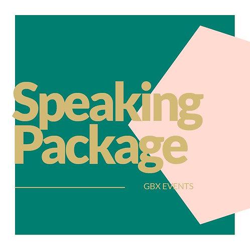 Speaking Package