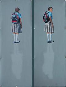 sombras (dibtico) | óleo sobre tela 90x50cm