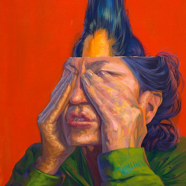 Rictus 70 x 40 cm óleo sobre tela 2020