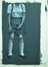 Medias blancas | óleo sobre tela 90x60cm 2013