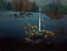 Silencio   óleo sobre tela 90x116 cm 2017