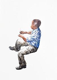 Niño 9 | acuarela sobre papel 40x20cm 2013.