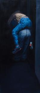 Surrounded_by | óleo sobre tela 90x40cm 2016