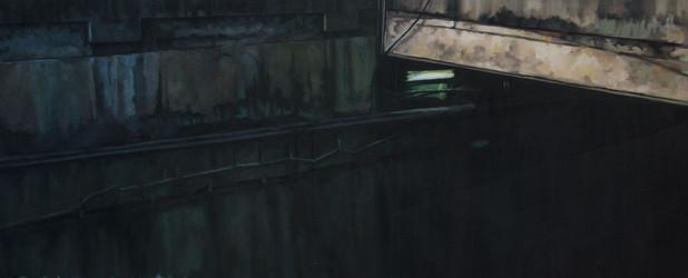 Ditch | óleo sobre tela 36x87 cm 2016