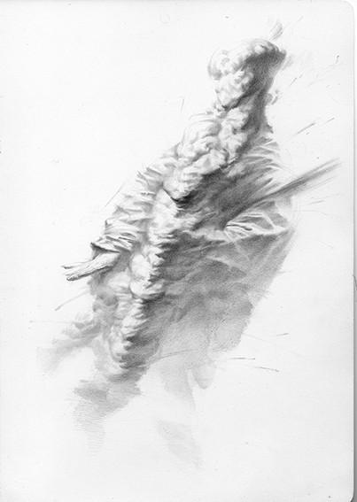 Nomada 4 | lápiz sobre papel 29,5x21 cm 2017