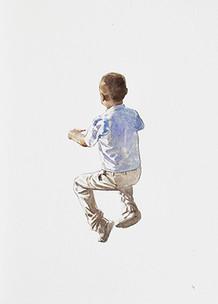 Niño 1   Acuarela sobre papel 40x20cm 2013.