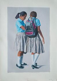 Dos Niñas | óleo sobre tela 65x90 cm 2013