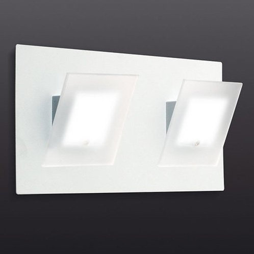 aplique 2 luces base rectangular