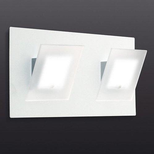 aplique 2 luces base rectangular