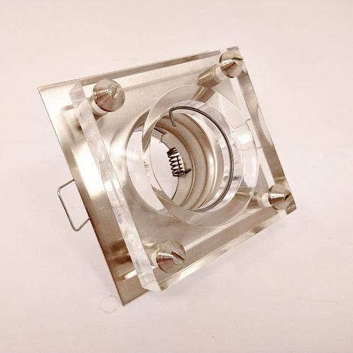 spot de embutir cuadrado con vidrio profundo
