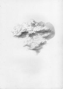 Intento de nube | lápiz sobre papel 29,5x21cm