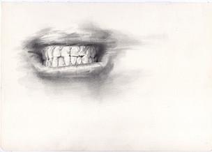 Intento de boca | lápiz sobre papel 29,5x 21cm