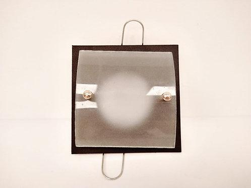 spot de embutir cuadrado con vidrio curvo