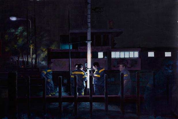 Finalmente la noche | óleo sobre tela 76x115cm 2017