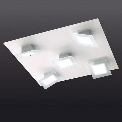 Plafon 5 luces cuadrado