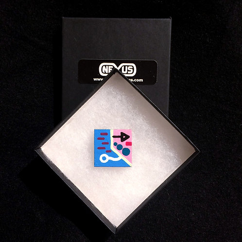 "Brooch Pin #6 - 1.25"" Square"