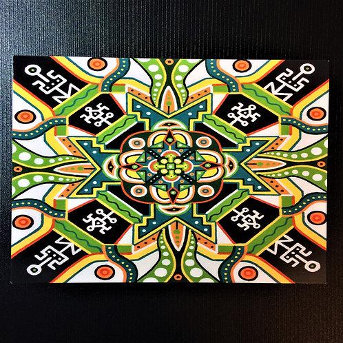 """Citrus Maelstrom"" 5 x 7 inch print"
