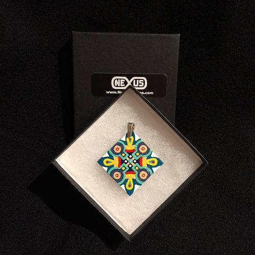 """Pendant 162 - 1.75"""" Diamond Mandala"""