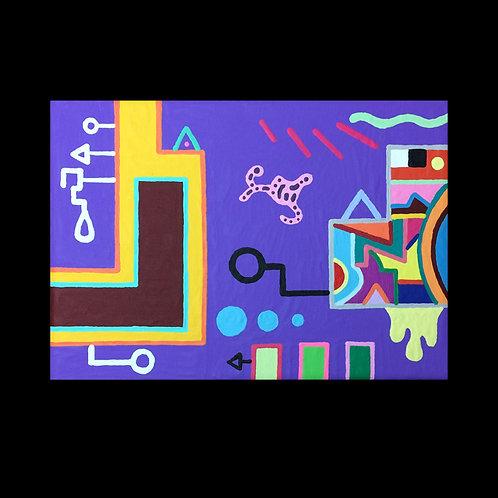 """PLAYLAND"" 5 X 7 inch original painting"