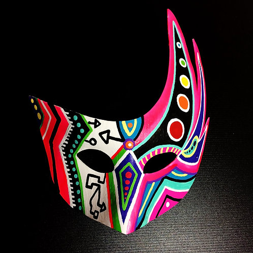 """MIXED & MASKED"" painted mask"
