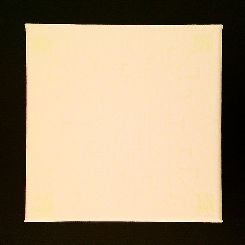 """ALIEN NIGHT LIGHT"" - 8 x 8 inch acrylic painting"