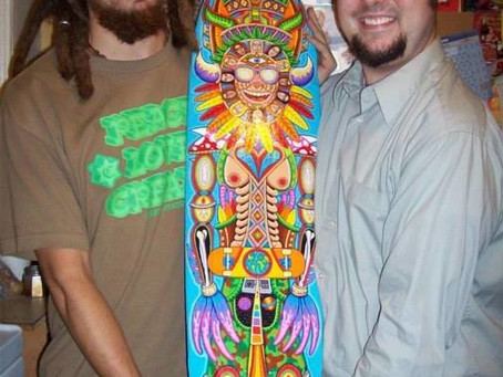 Throwback Thursday - Picking up a painting I bought from Chris Dyer~!