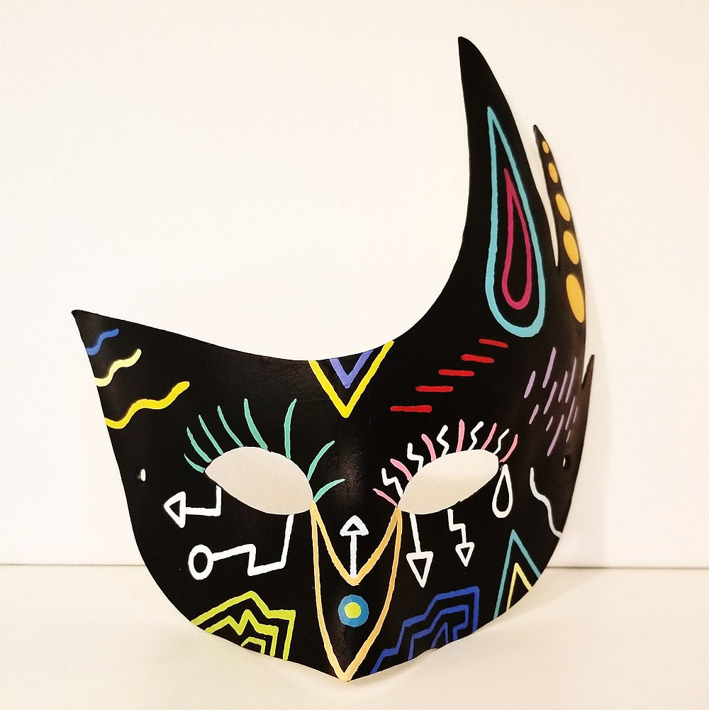 Painted Mask by Artist Adam Millward