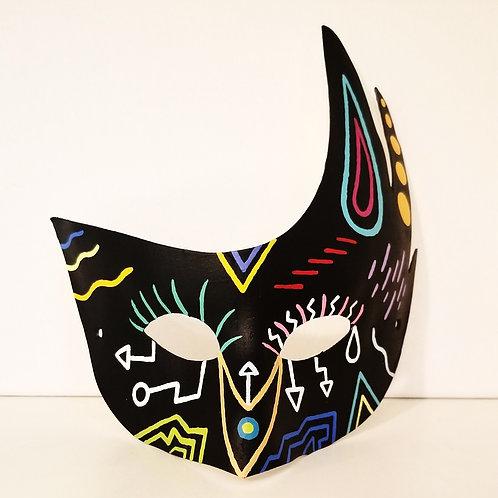 """BLACK MAGIC WOMAN"" Painted Mask"
