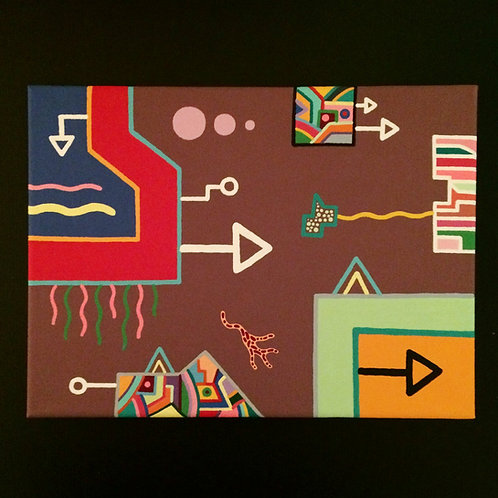 """WEIRD DREAM"" - 9 x 12 inch acrylic painting"