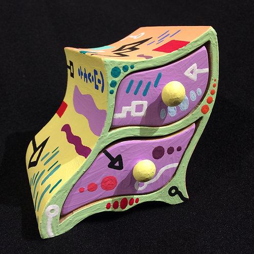 """""""SAO"""" - Painted Jewelry Box - 3.5""""W x 3.5""""L x 3.5""""D"""