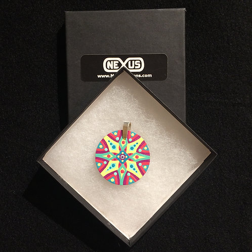 "Pendant #169 - 1.75"" Round Mandala"