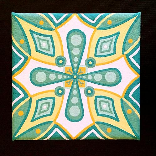 """GOOD LUCK""- 6 x 6 inch acrylic painting"