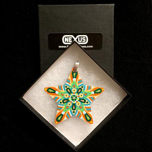 """Pendant #174 - 2.75"""" Star Mandala"""