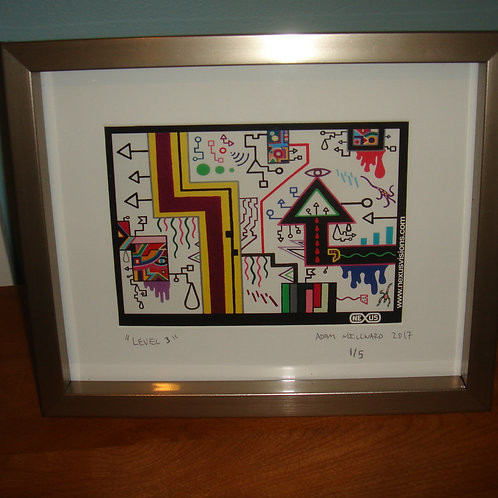 """Level 3"" 5 x 7 signed, framed limited edition print (#1-5)"