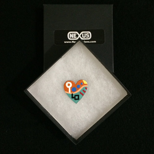 "Pin #19 - 1.25"" Heart"