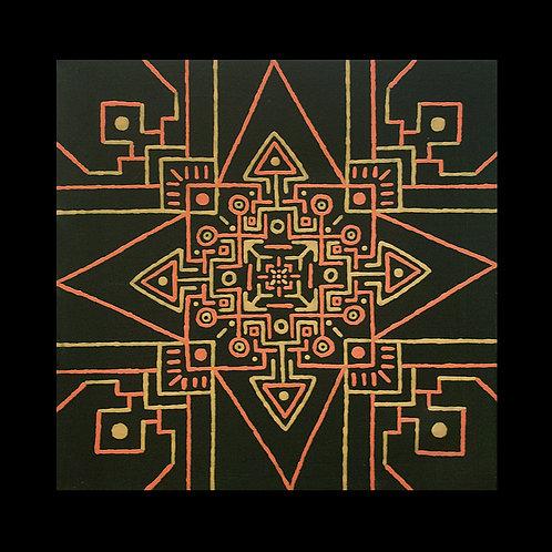 INCA TEMPLE 12 x 12 inch acrylic painting