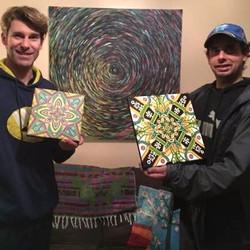 2 Happy Custom Mandala Art Patrons!