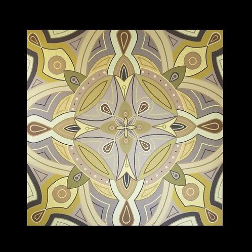 """PEACEFUL GARDEN"" - 48 x 48 inch original acrylic painting"