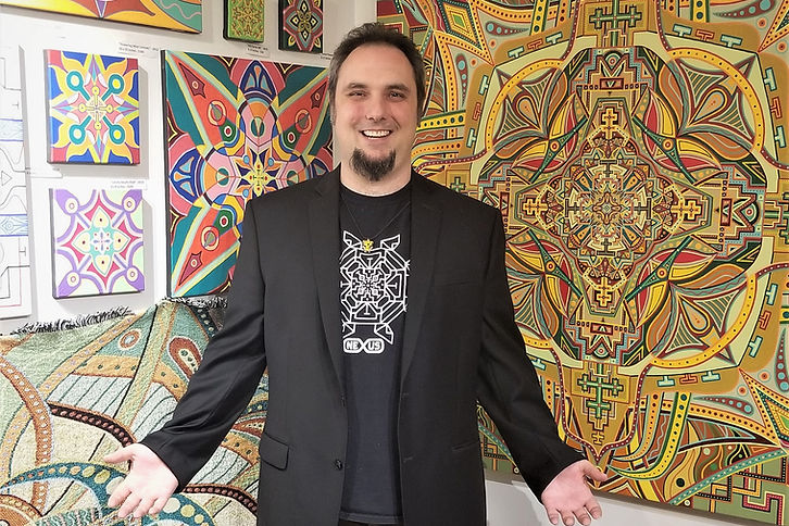 Canadian Mandala Artist Adam Millward Art Showroom